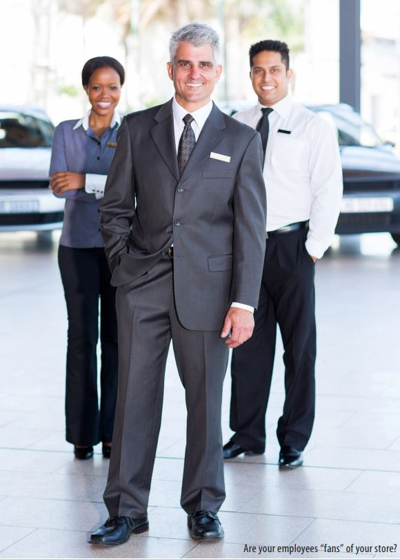 employee experience at dealer inline